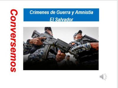 Crímenesde Guerra y Amnistía en El Salvador